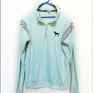 VS PINK Mint Green Pullover Sweatshirt